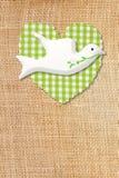 Premiers carte, colombe et coeur de communion de pays Photos stock
