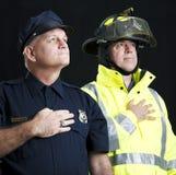 Premiers répondeurs héroïques Photo libre de droits