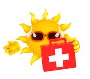 premiers secours de 3d Sun illustration stock