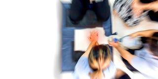 Premiers secours de soins de santé d'éducation de réanimation cardio-respiratoire images stock