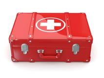 Premiers soins. Trousse médicale. 3d illustration stock