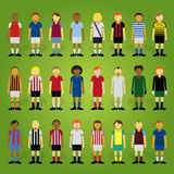 Premiership Cartoon Footballer Collection Stock Photos