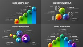 Premii ilości analityka marketingowej prezentaci wektorowy ilustracyjny szablon Biznesowych dane unaocznienia projekta kreatywnie ilustracji