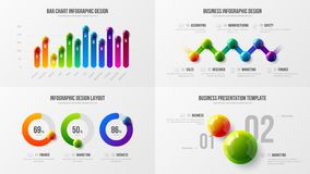 Premii ilości analityka marketingowej prezentaci wektorowy ilustracyjny szablon Biznesowych dane unaocznienia projekta kreatywnie ilustracja wektor