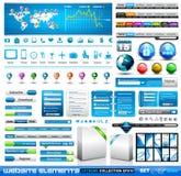Premii infographics Sieci materiał Fotografia Royalty Free