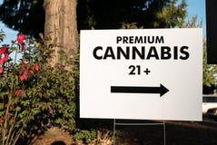 Premii marihuany znaka handel detaliczny Portland Obrazy Stock