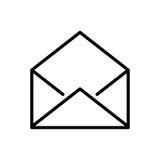 Premii poczta logo w kreskowym stylu lub ikona Obrazy Royalty Free