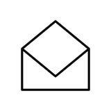 Premii poczta logo w kreskowym stylu lub ikona Zdjęcia Royalty Free