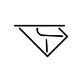 Premii poczta logo w kreskowym stylu lub ikona Zdjęcie Royalty Free