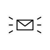 Premii poczta logo w kreskowym stylu lub ikona Fotografia Royalty Free
