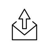 Premii poczta logo w kreskowym stylu lub ikona Zdjęcie Stock