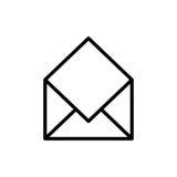 Premii poczta logo w kreskowym stylu lub ikona Obrazy Stock
