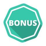 Premii zielona ikona z długim cieniem Obrazy Stock