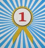 Premio in bianco blu Immagini Stock