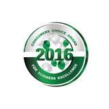 Premio choice dei consumatori per eccellenza 2016 di affari Fotografie Stock