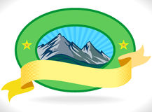 Premio - contrassegno della montagna Immagine Stock