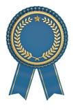 Premio de Blue Ribbon aislado en el fondo blanco ilustración 3D stock de ilustración