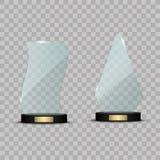 Premio de cristal del trofeo Ejemplo del vector en fondo transparente Fotos de archivo