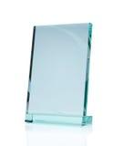 Premio de cristal en blanco imagen de archivo