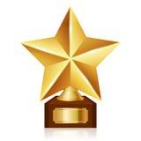Premio de la estrella del oro Imagen de archivo libre de regalías