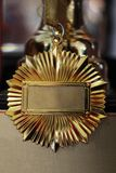 Premio de la medalla de oro Foto de archivo
