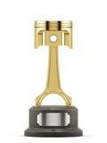 Premio de la taza de oro del pistón para el 1r primer lugar en la raza Imagenes de archivo