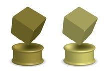 Premio del cubo dell'oro Immagine Stock Libera da Diritti