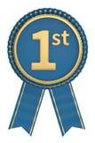 Premio del fairst de Blue Ribbon aislado en el fondo blanco illust 3d libre illustration