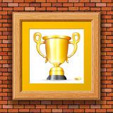Premio del oro Foto de archivo libre de regalías