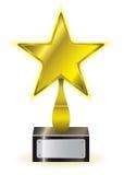 Premio della stella dell'oro Fotografia Stock Libera da Diritti