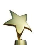 Premio della stella isolato sopra bianco Fotografie Stock Libere da Diritti