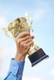 Premio dorato immagine stock