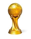 Premio dorato del premio del pallone da calcio Immagini Stock Libere da Diritti