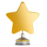 Premio dorato della stella Fotografie Stock Libere da Diritti
