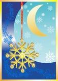Premio, fiocco di neve dell'oro. Fotografia Stock