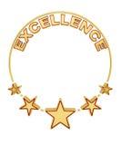 Premio a la excelencia con cinco estrellas Foto de archivo libre de regalías