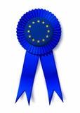 Premio premiato del nastro della bandierina del sindacato europeo dell'Europa Immagini Stock Libere da Diritti