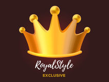 Premio reale per il vincitore, direzione, campione, evento, festi della corona Immagine Stock