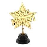 Premio/trofeo del jugador de la estrella Fotografía de archivo
