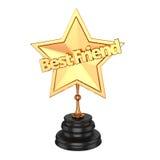 Premio/trofeo del mejor amigo Imagen de archivo