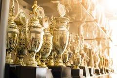 Premios del trofeo para la dirección del campeón foto de archivo libre de regalías
