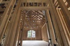 Premiowego pokoju drewno Nabija ćwiekami otoczkę Zdjęcie Stock