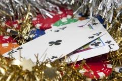 premiowi kasynowi układ scalony Obrazy Royalty Free