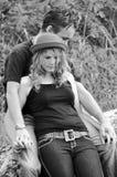Première aventure amoureuse de jeunes doux amers Photographie stock libre de droits