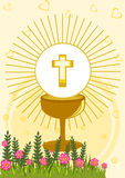 Première communion sainte Photographie stock libre de droits