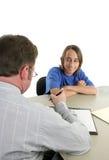 Première entrevue d'emploi Photos stock