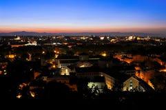 Première lumière sur Rome Photographie stock libre de droits