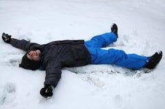 Première neige de l'an Images stock
