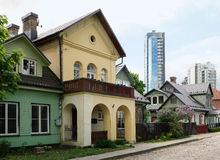 Premières maisons de campagne nobles Photos stock
