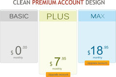 Premium account design Stock Photos